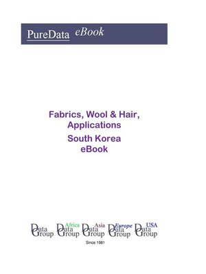 cover image of Fabrics, Wool & Hair, Applications in South Korea