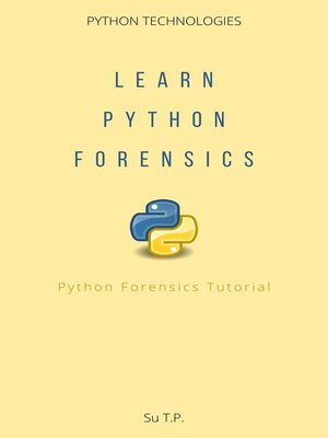 cover image of Learn Python Forensics