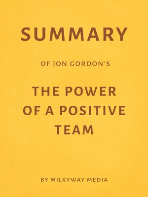 cover image of Summary of Jon Gordon's the Power of a Positive Team