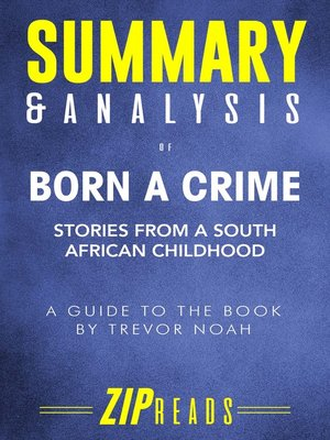 cover image of Summary & Analysis of Born a Crime