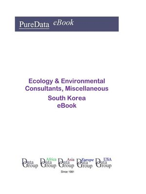 cover image of Ecology & Environmental Consultants, Miscellaneous in South Korea