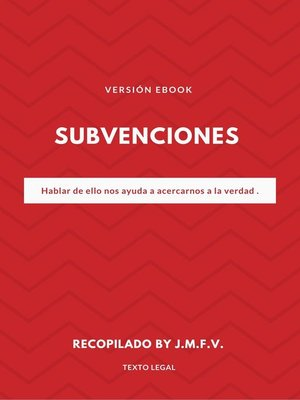 cover image of Subvenciones
