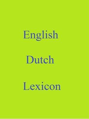 cover image of English Dutch Lexicon