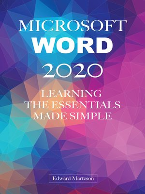 cover image of Microsoft Word 2020