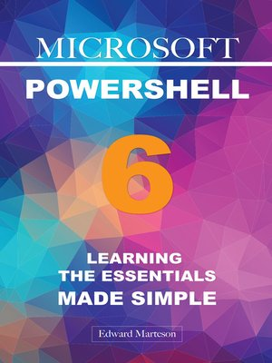 cover image of Microsoft PowerShell 6
