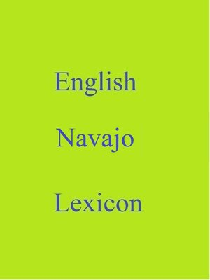 cover image of English Navajo Lexicon