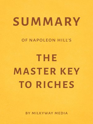 cover image of Summary of Napoleon Hill's the Master Key to Riches