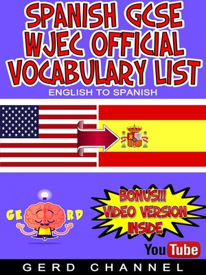cover image of Spanish GCSE WJEC Vocabulary List