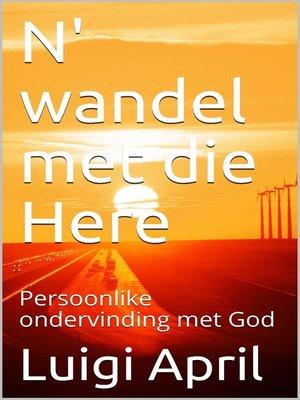 cover image of Persoonlike ondervinding met God