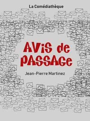 cover image of Avis de passage