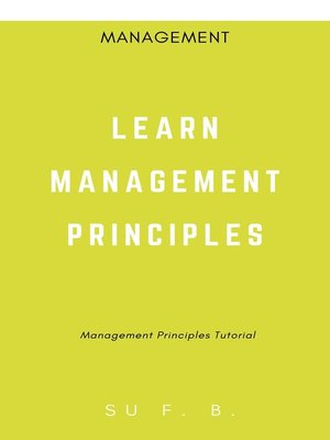 cover image of Learn Management Principles