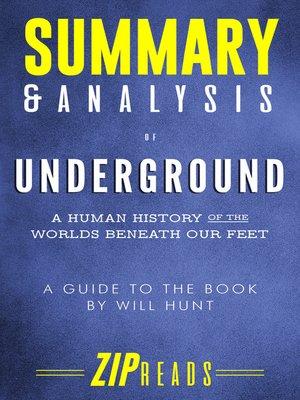 cover image of Summary & Analysis of Underground