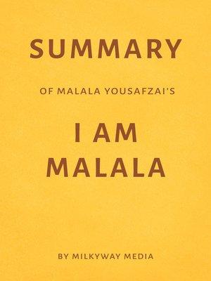 cover image of Summary of Malala Yousafzai's I Am Malala