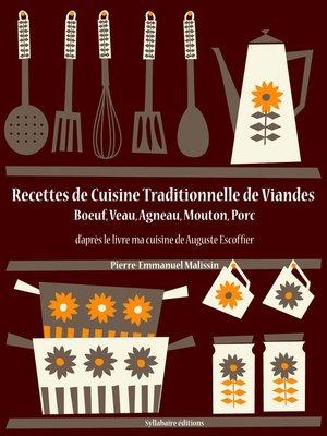 cover image of Recettes de Cuisine Traditionnelle de Viandes
