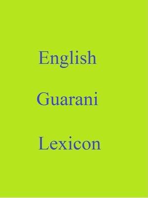 cover image of English Guarani Lexicon