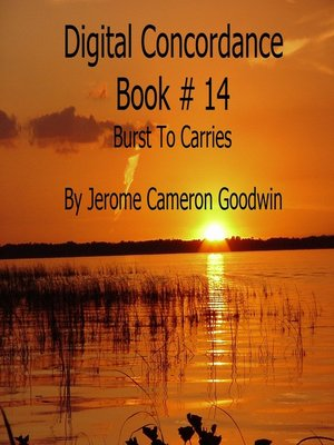 cover image of Burst to Carries--Digital Concordance Book 14