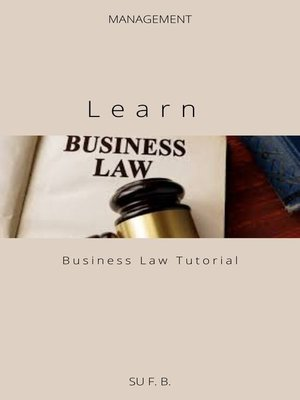 cover image of Learn Business Law