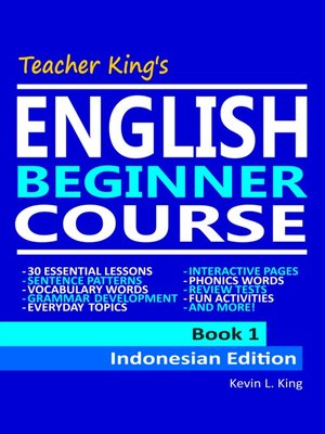 cover image of Teacher King's English Beginner Course Book 1--Indonesian Edition
