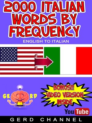 cover image of 2000 Italian Words by Frequency