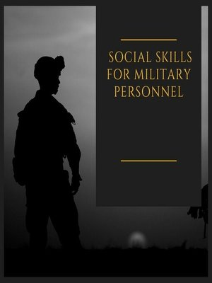 cover image of Social skills for military personnel