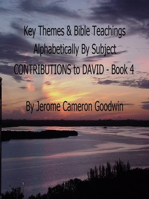 cover image of CONTRIBUTIONS to DAVID--Book 4--Key Themes by Subjects