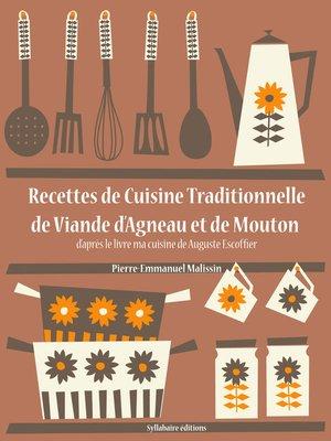 cover image of Recettes de Cuisine Traditionnelle de Viande d'Agneau et de Mouton