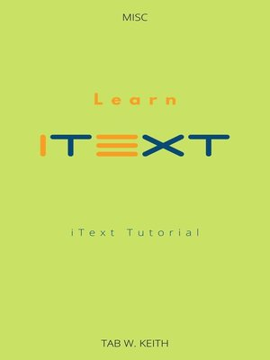 cover image of Learn iText