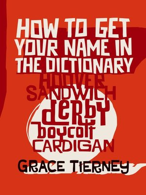cover image of How to Get Your Name In the Dictionary