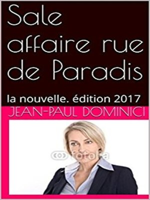 cover image of Sale affaire rue de Paradis