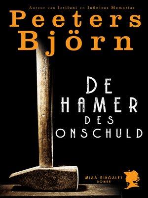 cover image of De hamer des onschuld