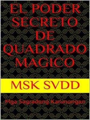 cover image of EL PODER SECRETO DE QUADRADO MAGICO