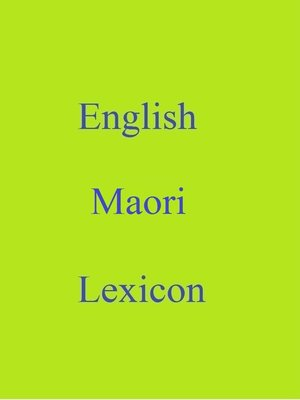 cover image of English Maori Lexicon