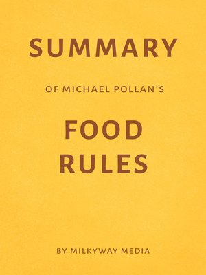 cover image of Summary of Michael Pollan's Food Rules