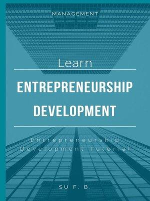 cover image of Learn Entrepreneurship Development