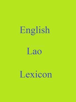 cover image of English Lao Lexicon