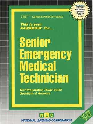 cover image of Senior Emergency Medical Technician