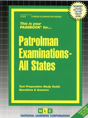 cover image of Patrolman Examinations - All States