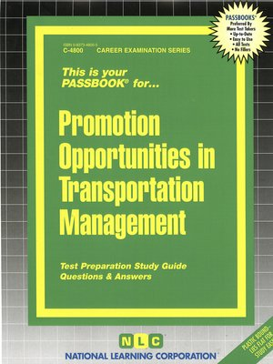 cover image of Promotion Opportunities in Transportation Management