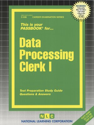 cover image of Data Processing Clerk I