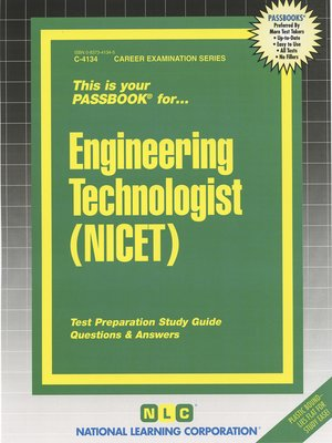 cover image of Engineering Technologist (NICET)