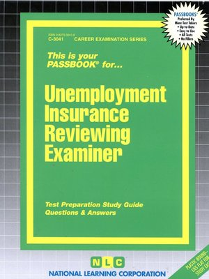 cover image of Unemployment Insurance Reviewing Examiner