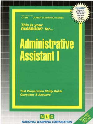 cover image of Administrative Assistant I