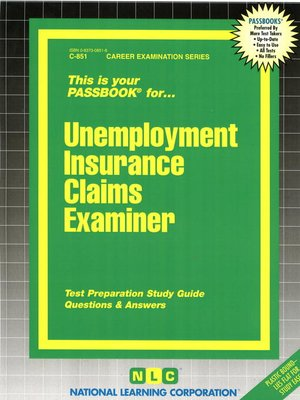 cover image of Unemployment Insurance Claims Examiner