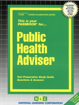 cover image of Public Health Adviser