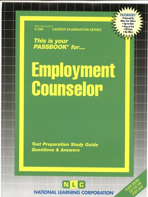 cover image of Employment Counselor