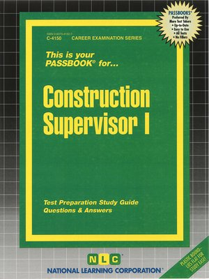 cover image of Construction Supervisor I