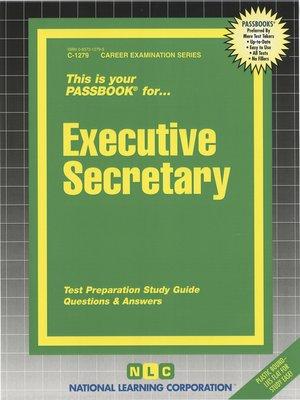 cover image of Executive Secretary