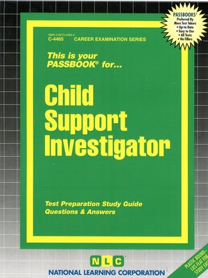 cover image of Child Support Investigator