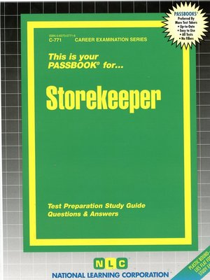 cover image of Storekeeper