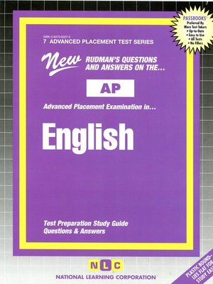 cover image of AP English (Literature and Composition)